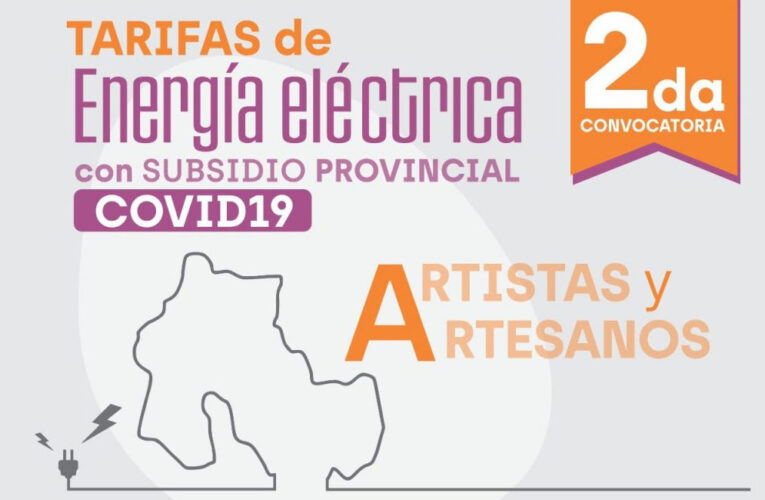 ENERGÍA SUBSIDIADA PARA ESPACIOS CULTURALES, ARTISTAS Y ARTESANOS