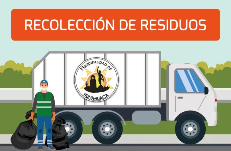RECOLECCIÓN DE RESIDUOS: INFORMACIÓN IMPORTANTE