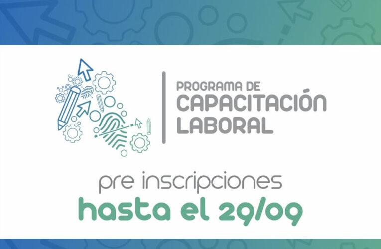 PRE INSCRIPCIONES AL PROGRAMA DE CAPACITACIÓN LABORAL