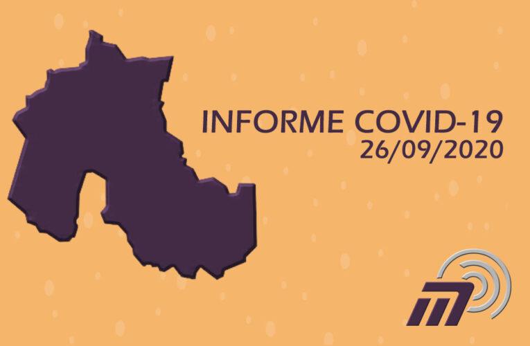 SÁBADO 26-09: REPORTE DIARIO COVID-19