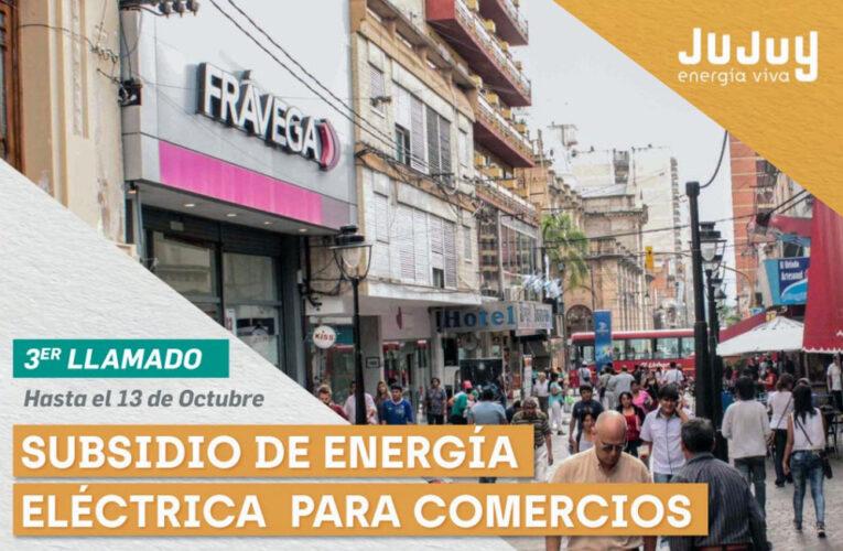 SUBSIDIO DE ENERGÍA ELÉCTRICA PARA COMERCIANTES Y GASTRONÓMICOS